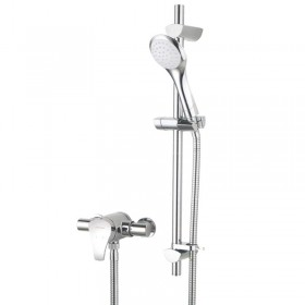 Capri Surface Mounted Shower with Adjustable Riser