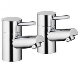 Xcite Bath Pillar Taps (Pair)