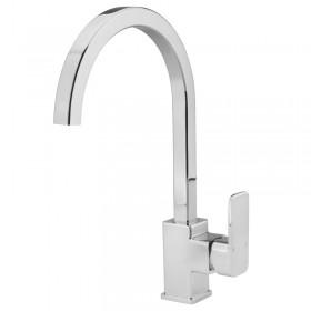 Side Lever Square Monobloc Kitchen Sink Mixer Chrome