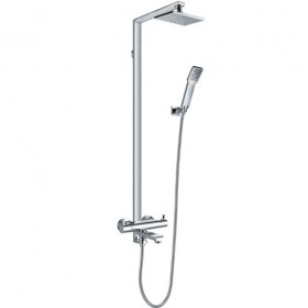 Essence Thermostatic Shower Rigid Riser, Handshower and Bath Spout