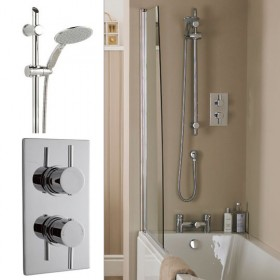 Minimalist Shower Valve with Premier Slide Bar Kit