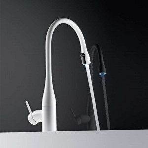 Eve Light Monobloc Kitchen Tap with Pull-Out Aerator SS