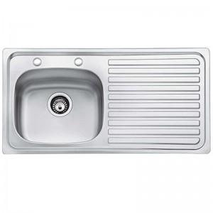 Bristan l Kitchen Sink Inox 1.0 Bowl Stainless Steel Right Drainer SK INXTT1 SR