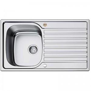 Bristan l Kitchen Sink Inox 1 Bowl Round Steel Universal SK INXRD1 SU