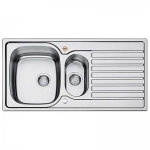 Bristan l Kitchen Sink Inox 1.5 Bowl Round Steel Universal SK INXRD1.5 SU