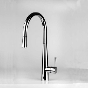 Just Light Kitchen Mixer Tap With Swivel Spout And Pull Out Rinse Chrome