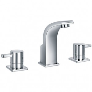 Essence Three Hole Basin Mixer with Clicker Waste
