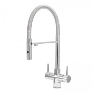 Aquila 2 Lever Mixer And Cold Filter Tap Chrome