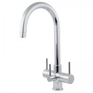 Verona 3 Lever Mixer And Cold Filter Tap Chrome
