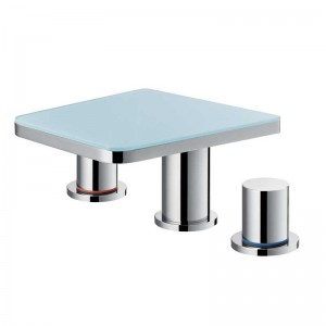 Annecy Glass 3 Hole Basin Mixer
