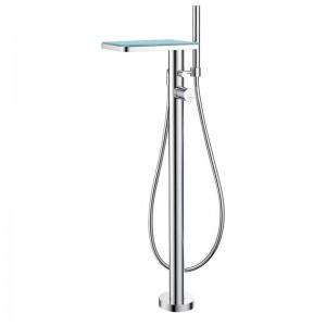 Annecy Glass Floor Standing Bath Shower Mixer