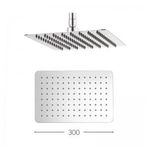 Glide Stainless Steel Round Shower Head 300mm