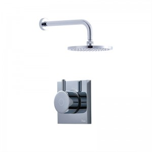 Crosswater Kai Single Outlet Shower with Digital Processor and 200mm Central Shower Head Low Pressure - KAI PACK 01