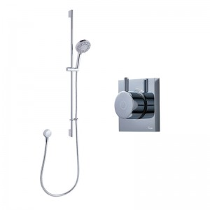 Crosswater Kai Single Outlet Shower with Digital Processor and Crosswater Kai Single Outlet Shower with Digital Processor and Central Shower Kit - Low Pressure - KAI PACK 03