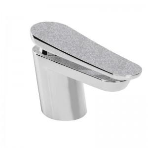 Metallix Claret One Hole Bath Filler Silver Sparkle
