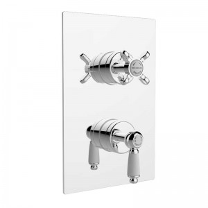 Renaissance Thermostatic Recessed Dual Control Valve with Diverter