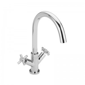 Crosshead Handle Monobloc Kitchen Sink Mixer Chrome