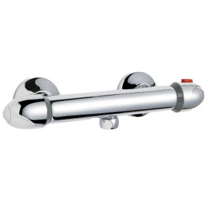 TS Round Thermostatic Bar Valve Bottom Outlet
