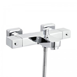 Ultra Square Thermostatic Wall Bath Shower Mixer