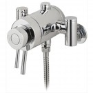 Surface mounted shower valve