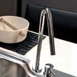 Brushed Steel Two Hole Taps
